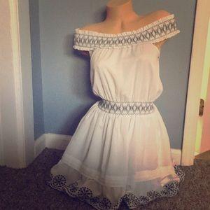 Double Zero Off-Shoulder Mini Dress